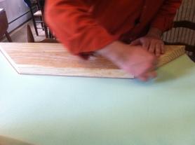 Cut the foam.