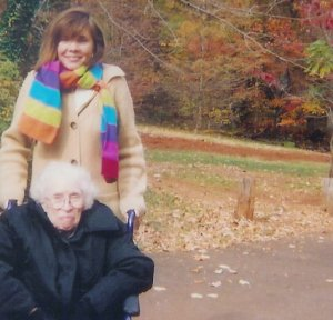 My grammy and me at Monticello.